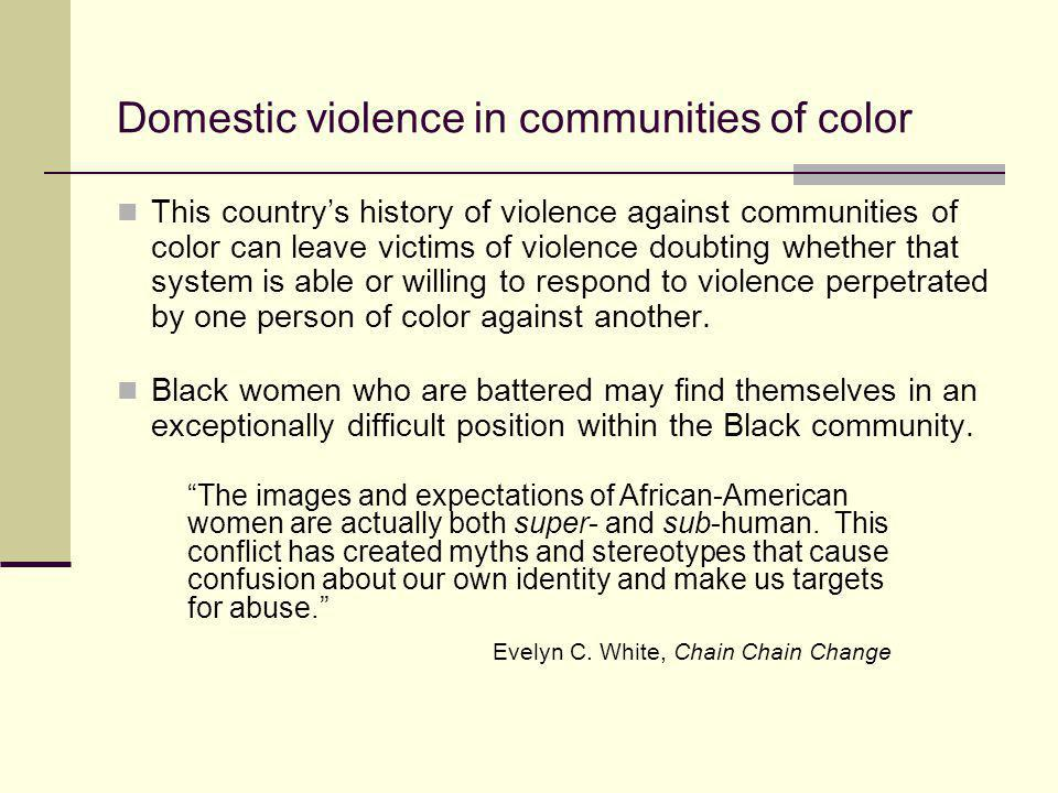 Domestic violence in communities of color