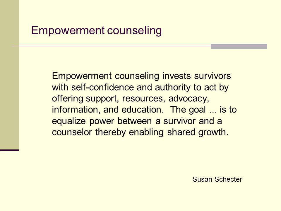 Empowerment counseling