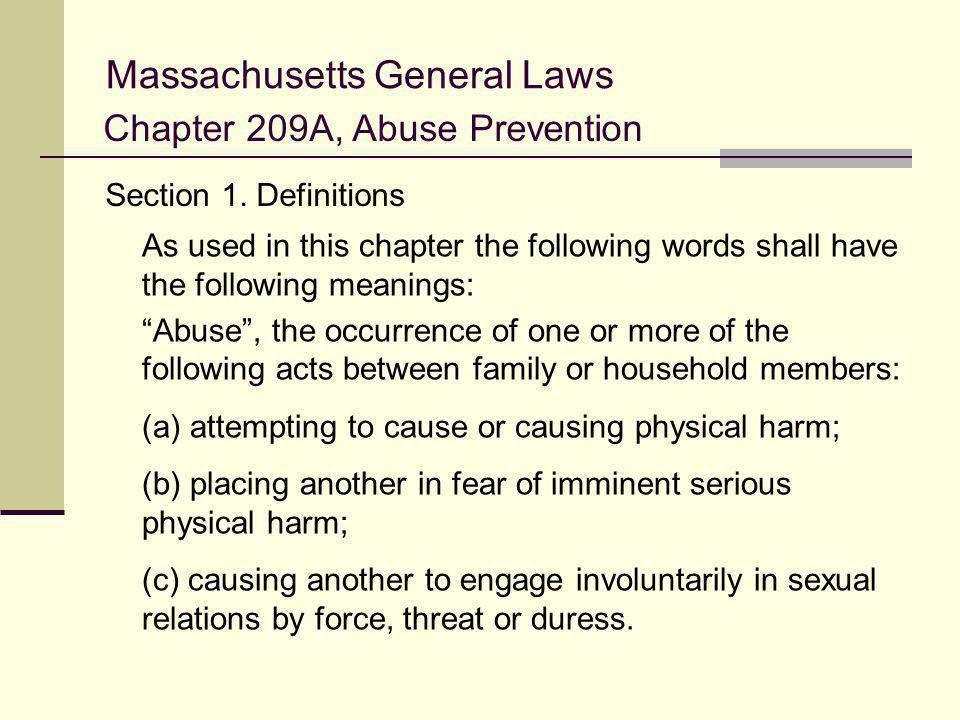 Massachusetts General Laws