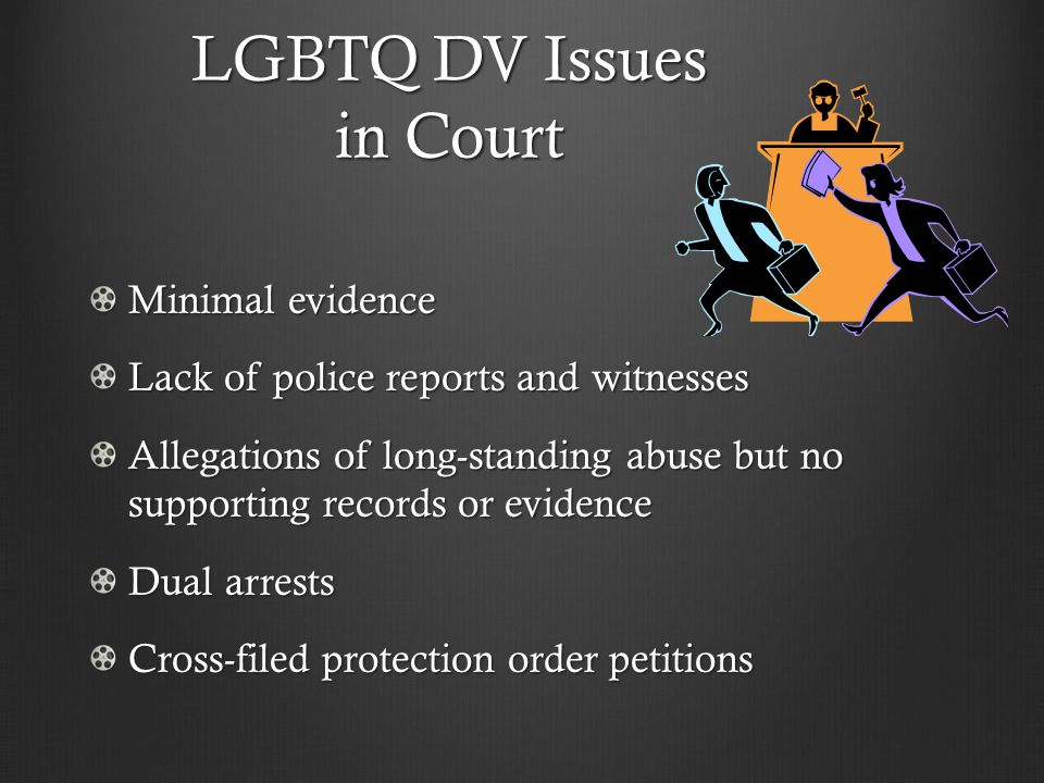 LGBTQ DV Issues in Court