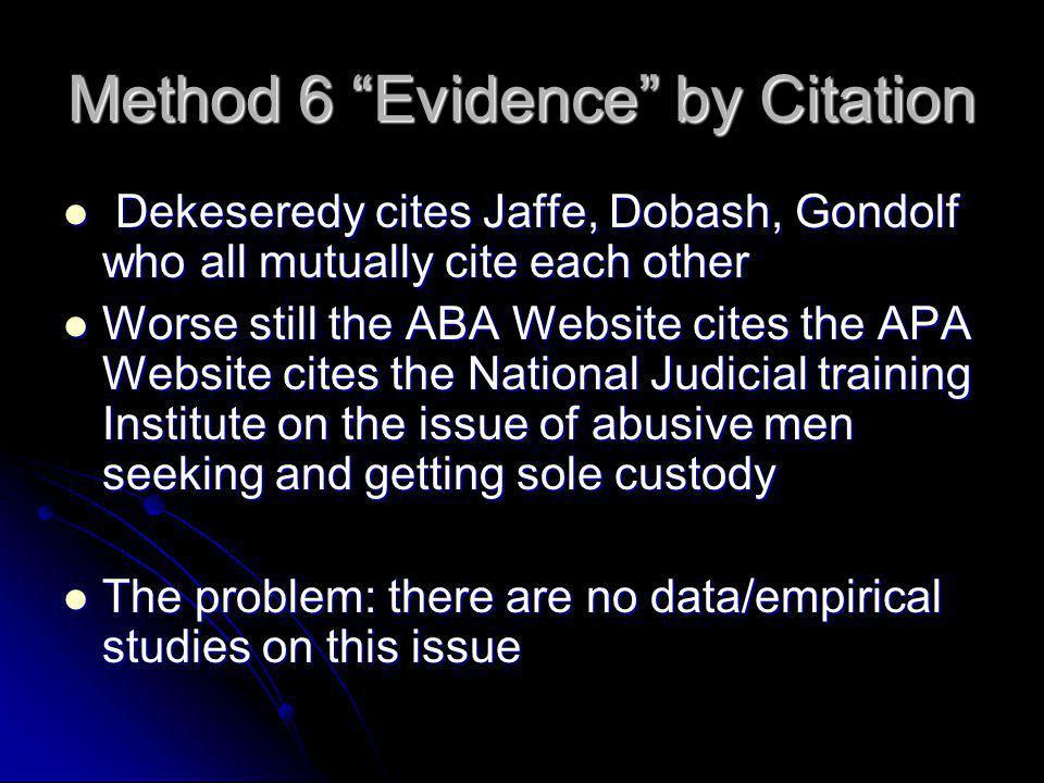 Method 6 Evidence by Citation