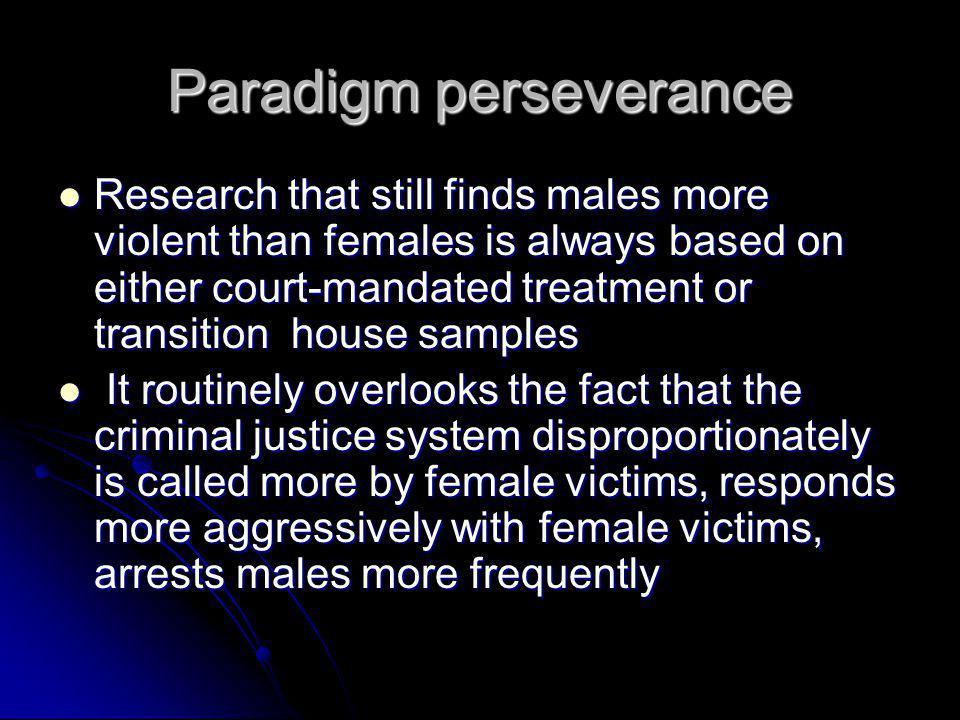 Paradigm perseverance