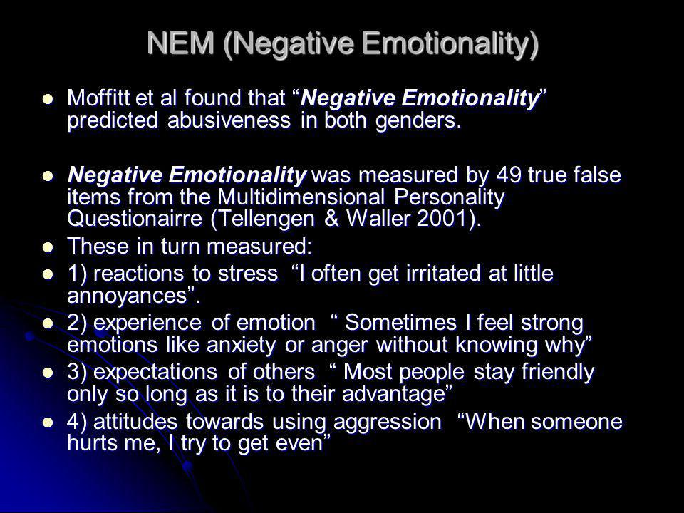 NEM (Negative Emotionality)