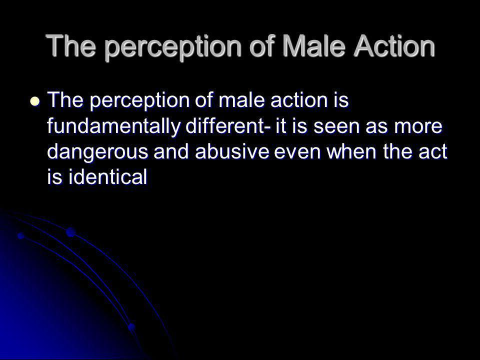 The perception of Male Action
