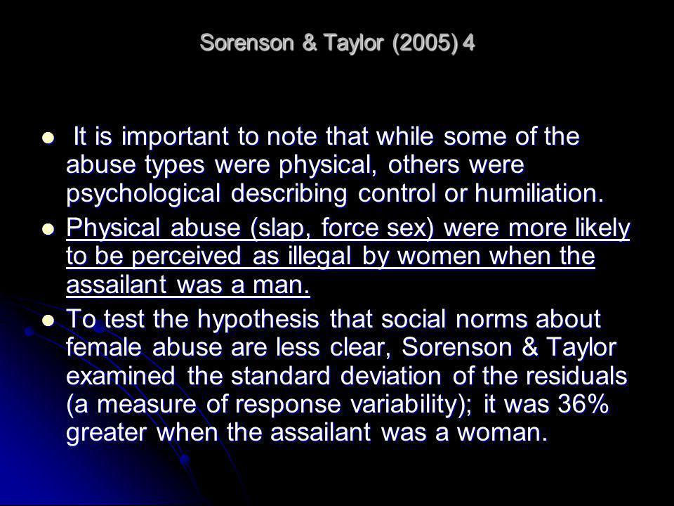 Sorenson & Taylor (2005) 4
