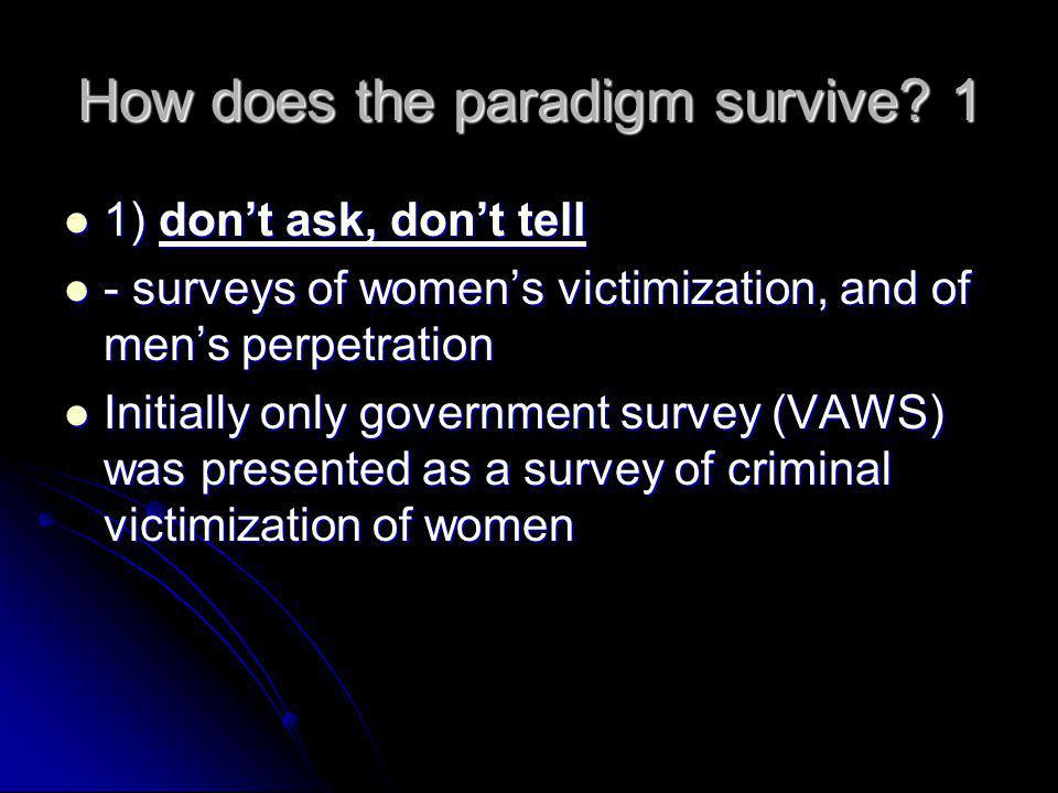 How does the paradigm survive 1