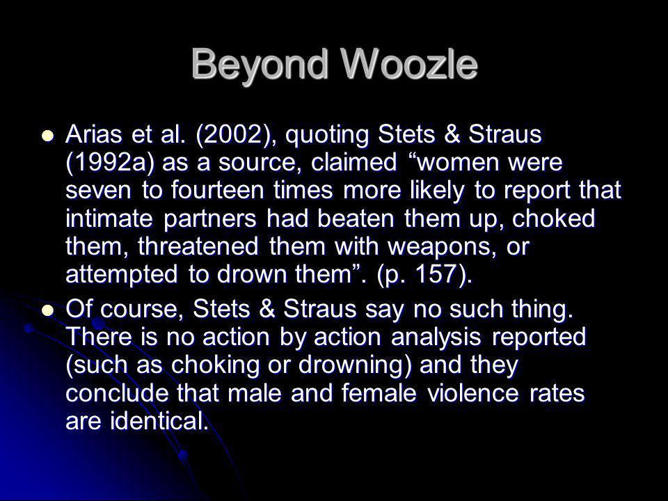 Beyond Woozle