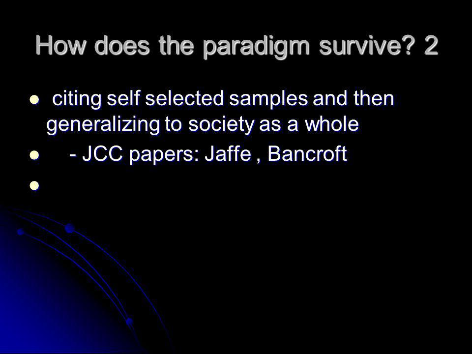 How does the paradigm survive 2