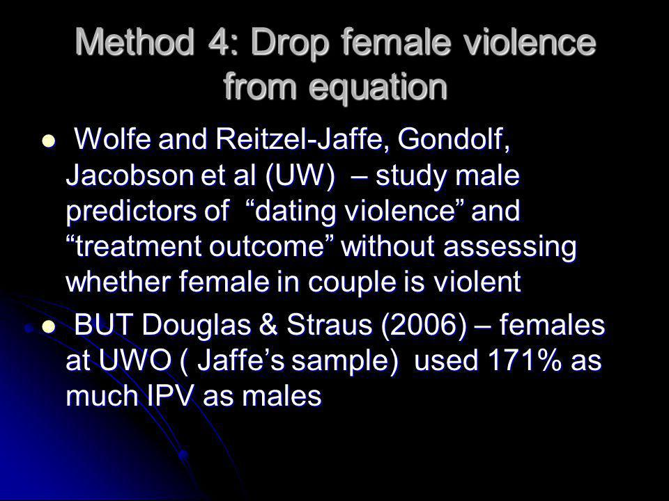Method 4: Drop female violence from equation