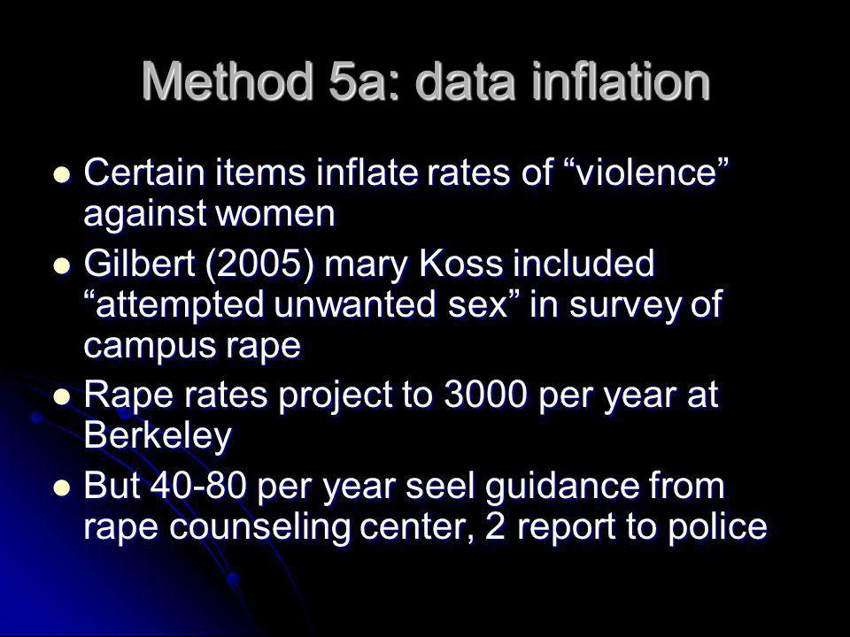 Method 5a: data inflation