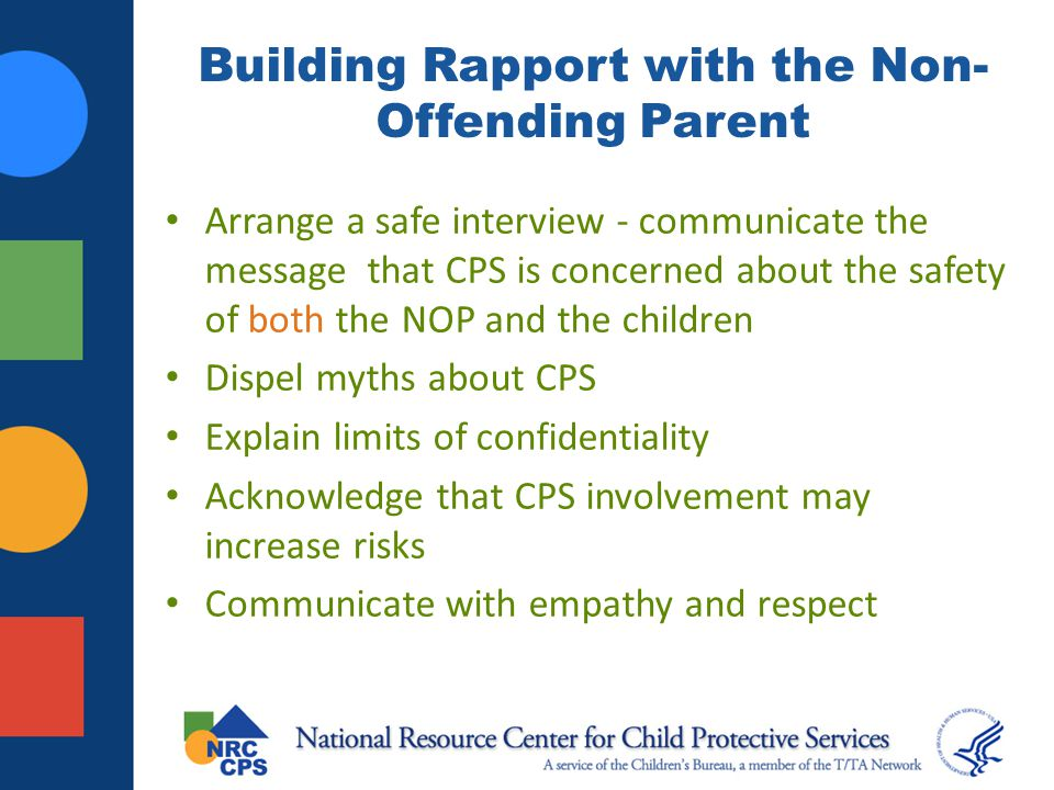 Building Rapport with the Non-Offending Parent