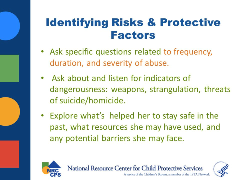 Identifying Risks & Protective Factors