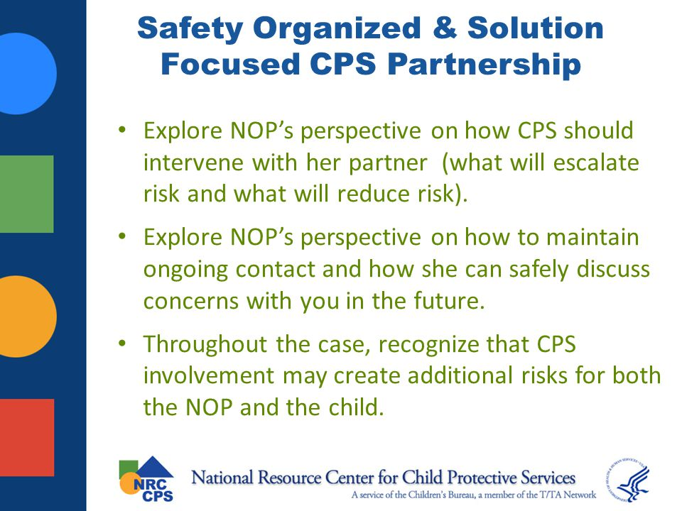Safety Organized & Solution Focused CPS Partnership