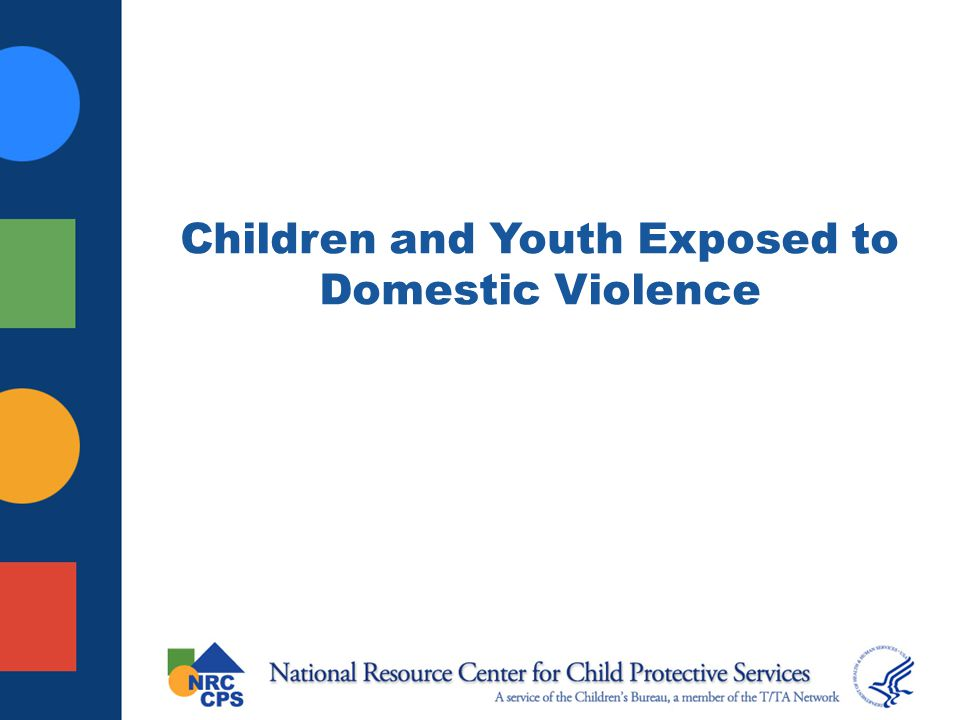 Children and Youth Exposed to Domestic Violence