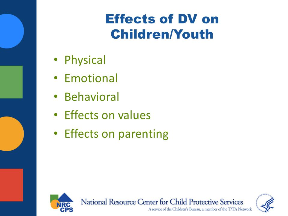 Effects of DV on Children/Youth