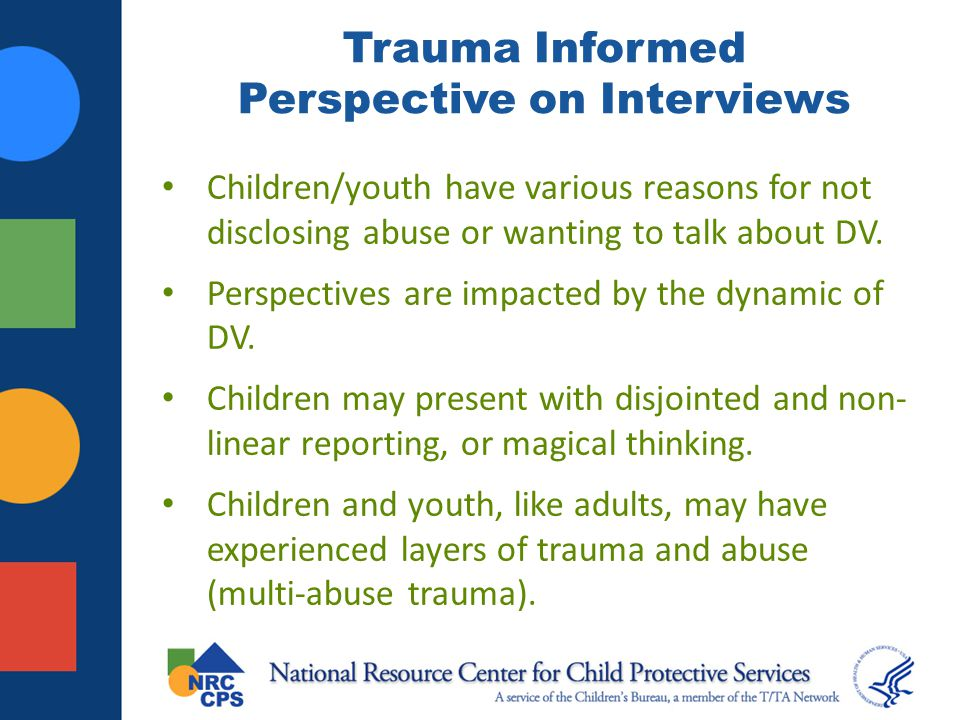 Trauma Informed Perspective on Interviews