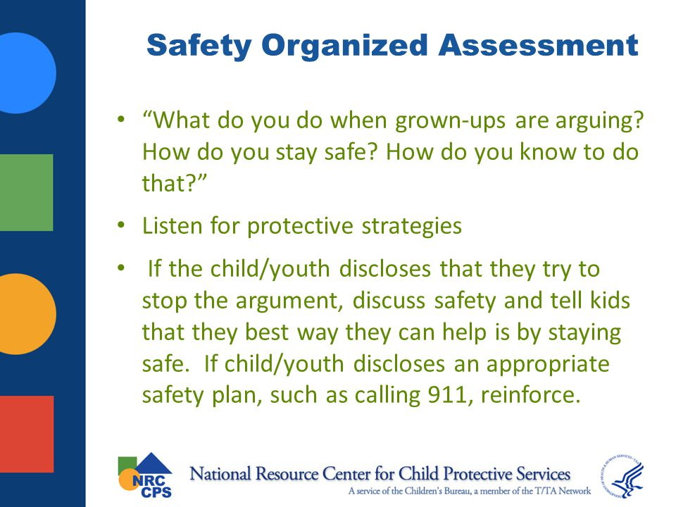 Safety Organized Assessment