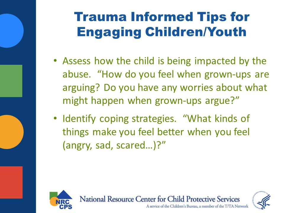 Trauma Informed Tips for Engaging Children/Youth