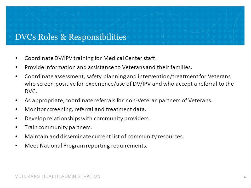 DVCs Roles & Responsibilities
