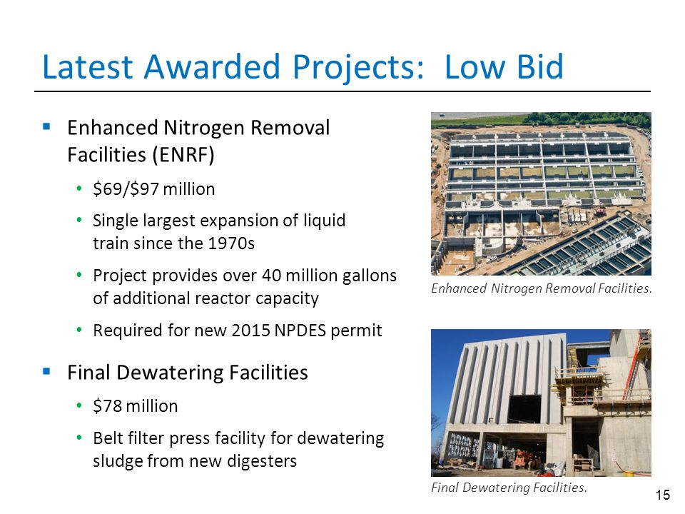 Latest Awarded Projects: Low Bid