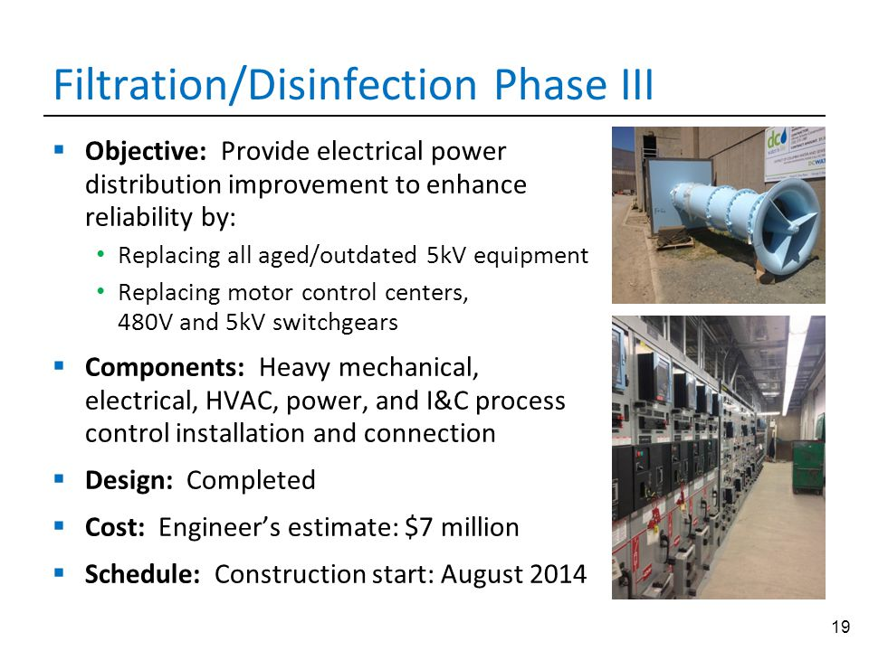 Filtration/Disinfection Phase III