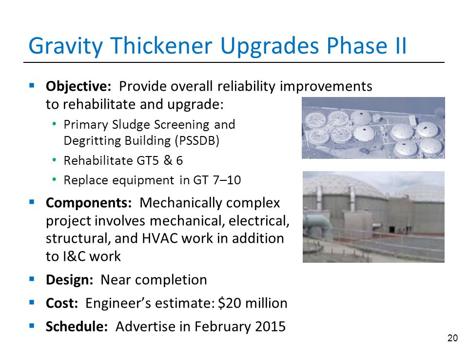 Gravity Thickener Upgrades Phase II