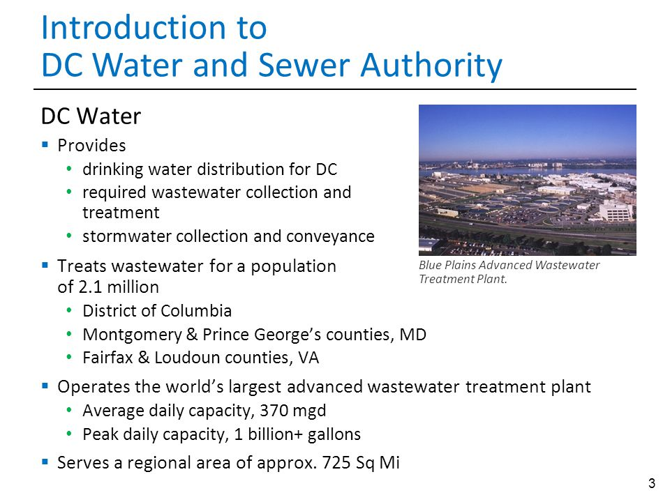 Introduction to DC Water and Sewer Authority