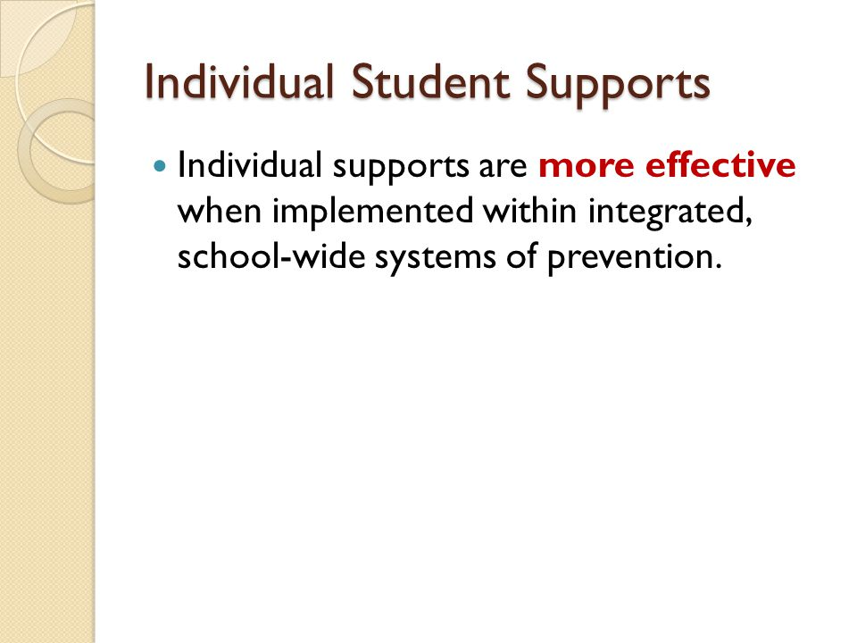 Individual Student Supports