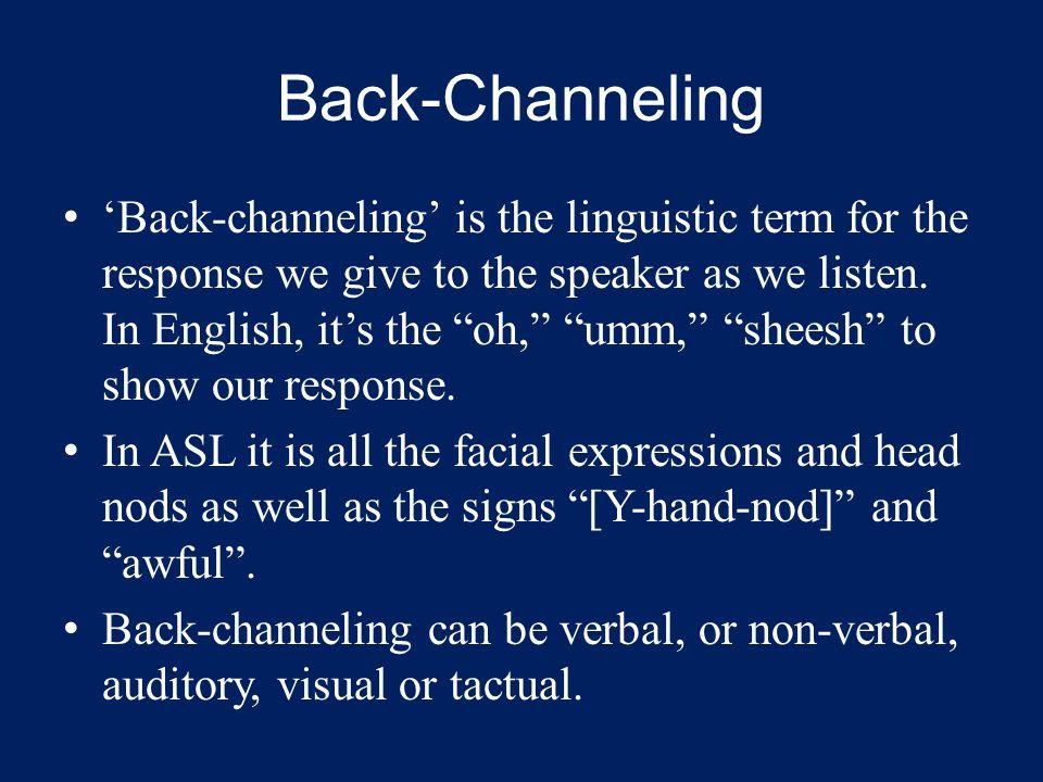 Back-Channeling