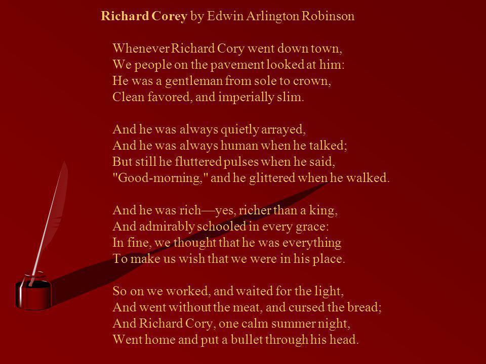 Richard Corey by Edwin Arlington Robinson