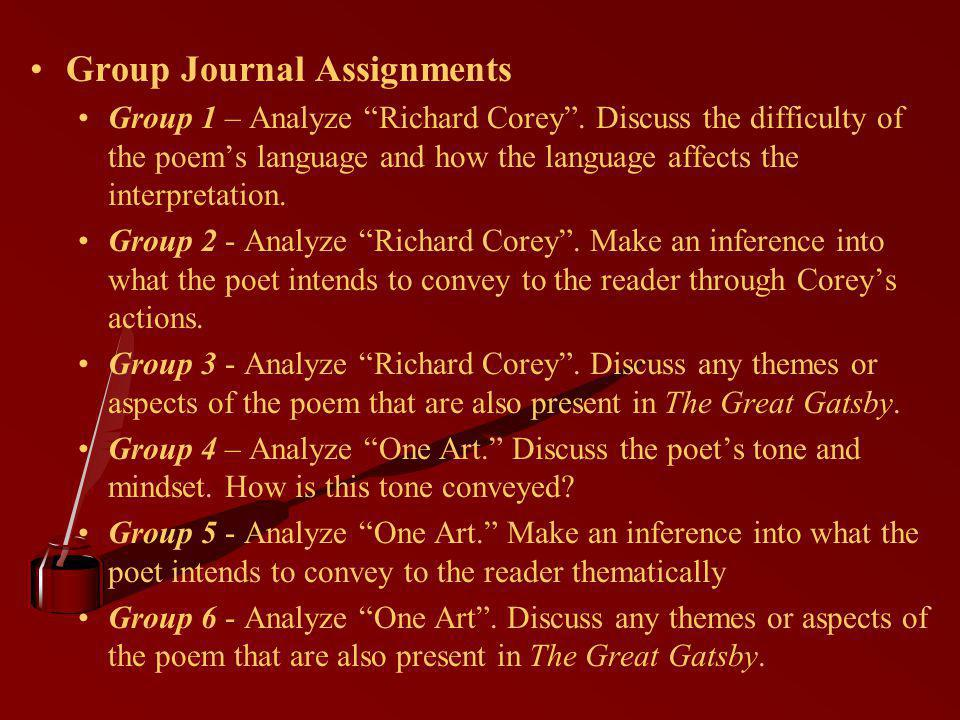 Group Journal Assignments