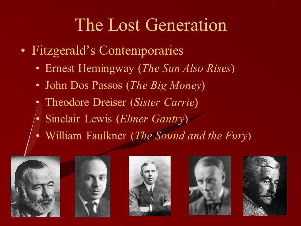 The Lost Generation Fitzgerald's Contemporaries