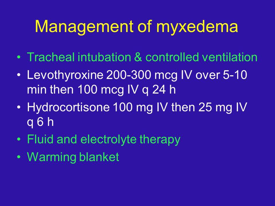 Management of myxedema