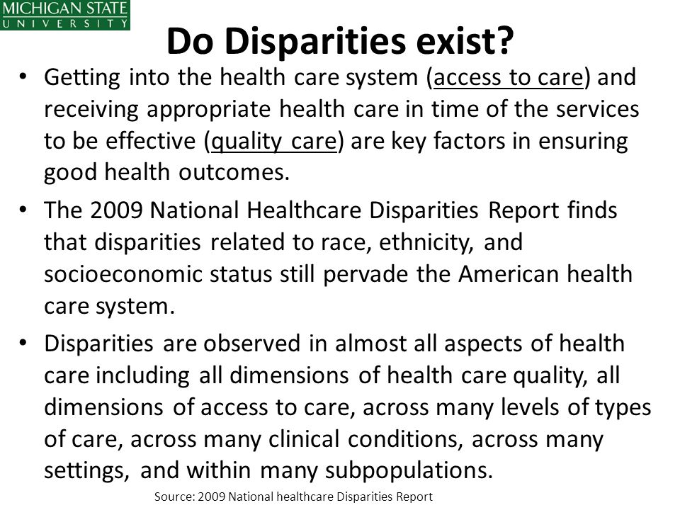 Do Disparities exist