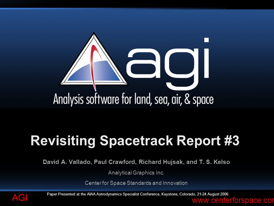 Revisiting Spacetrack Report #3