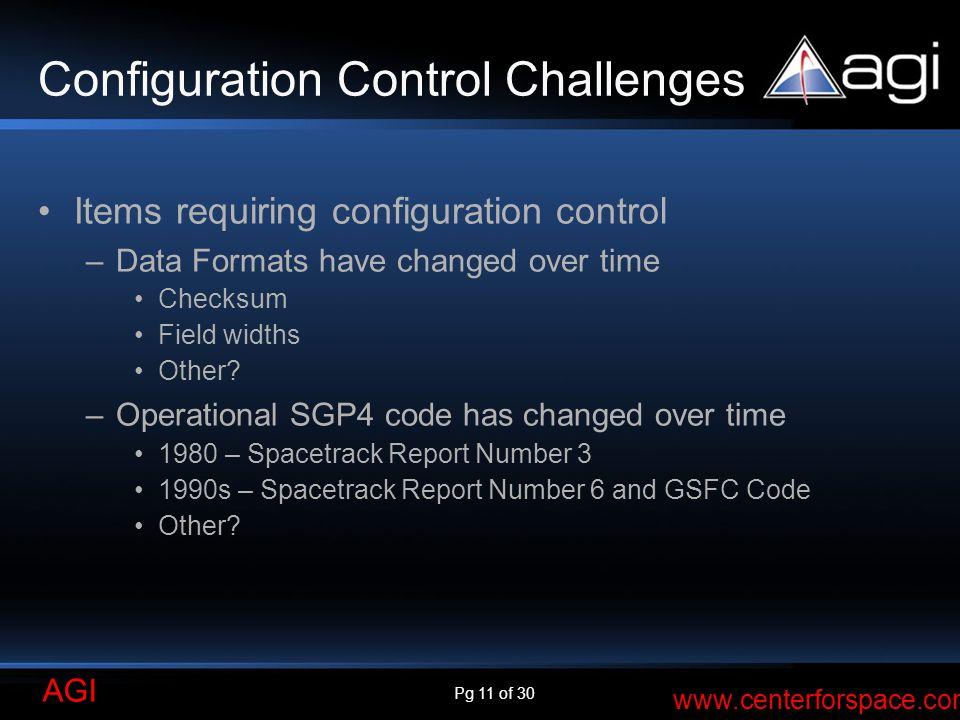 Configuration Control Challenges