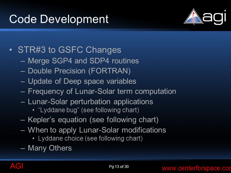 Code Development STR#3 to GSFC Changes Merge SGP4 and SDP4 routines