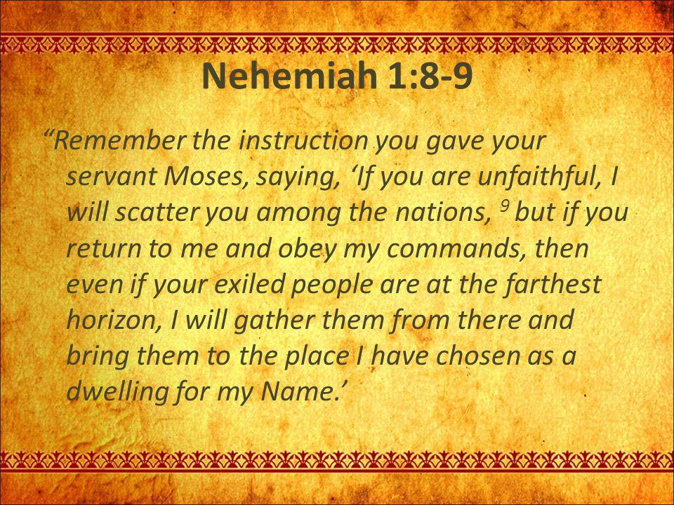 Nehemiah 1:8-9