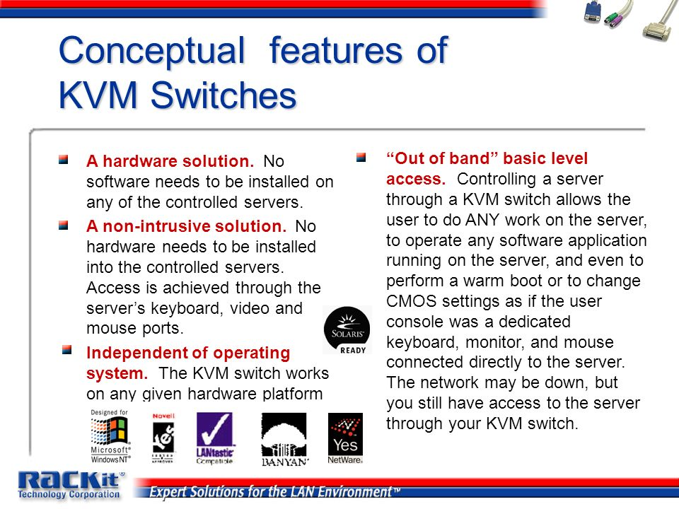 Conceptual features of KVM Switches