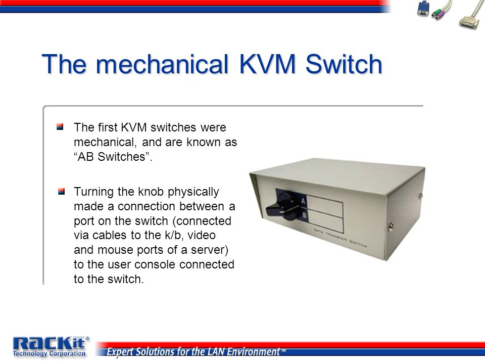 The mechanical KVM Switch