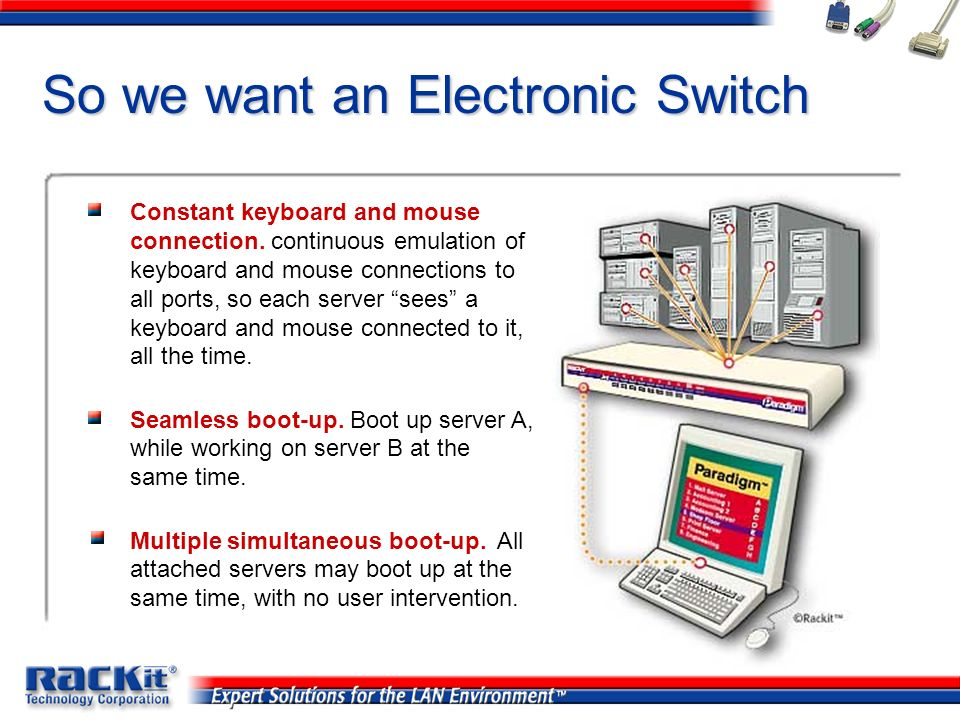 So we want an Electronic Switch
