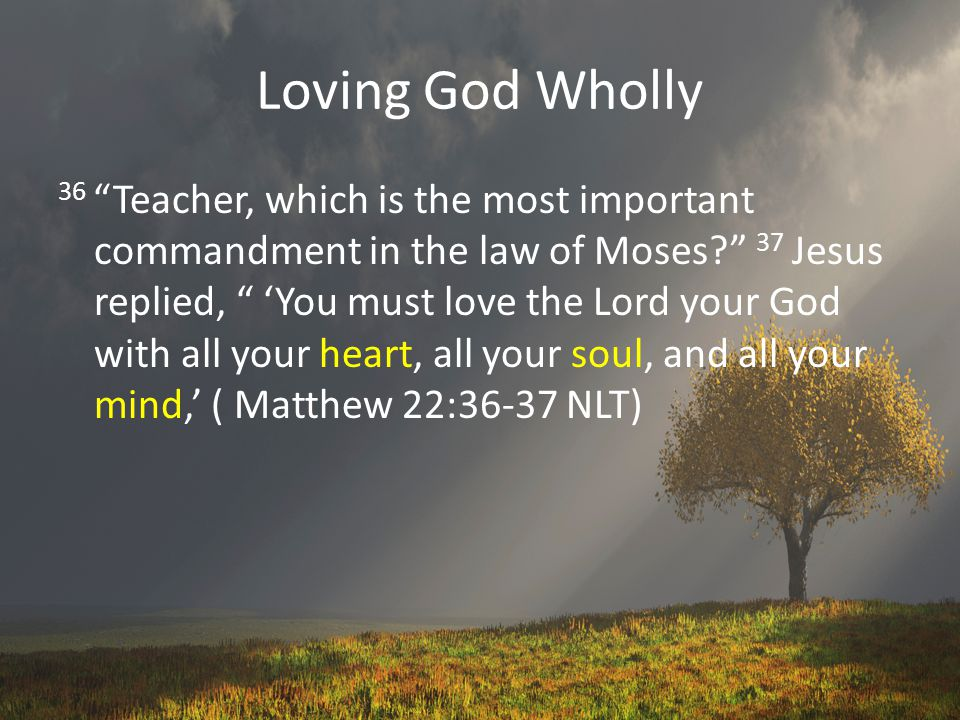 Loving God Wholly