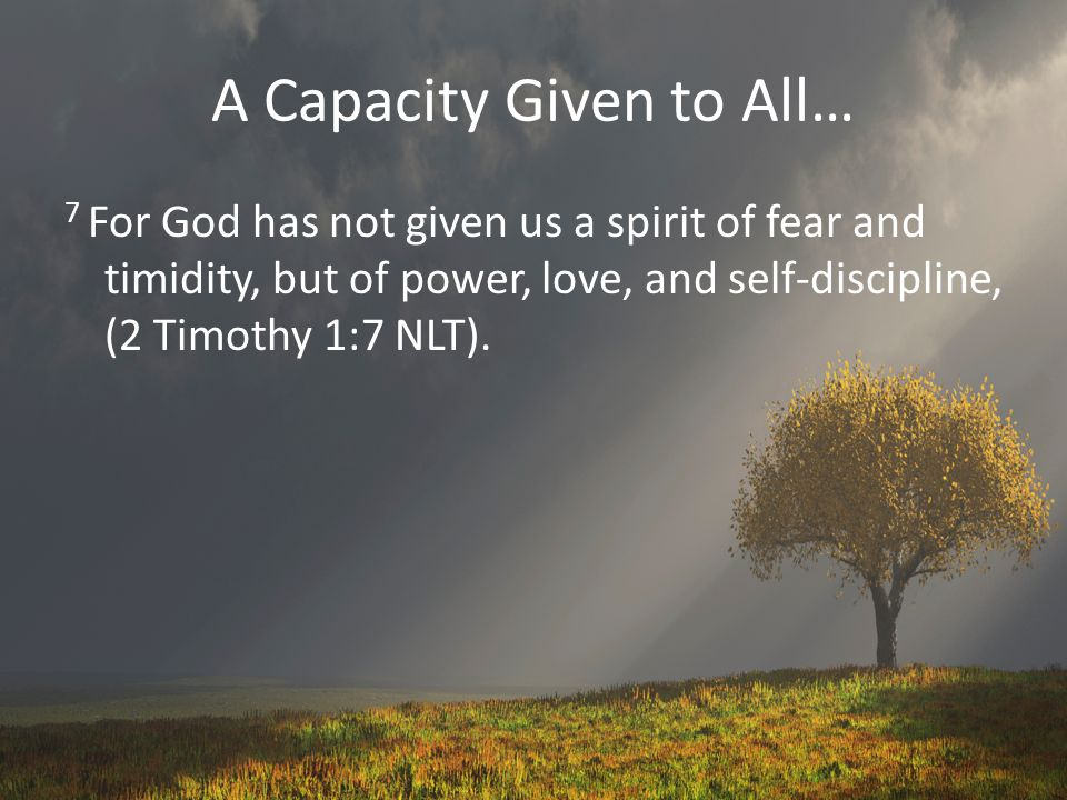 A Capacity Given to All…