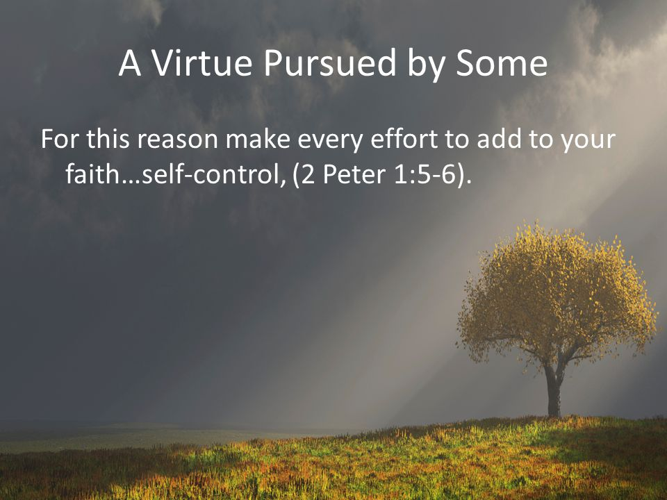 A Virtue Pursued by Some