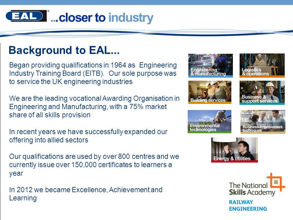 Background to EAL...