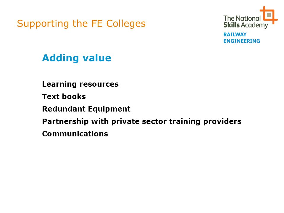 Supporting the FE Colleges