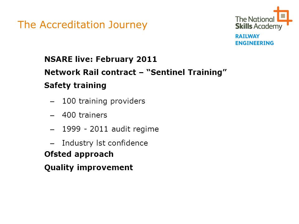 The Accreditation Journey
