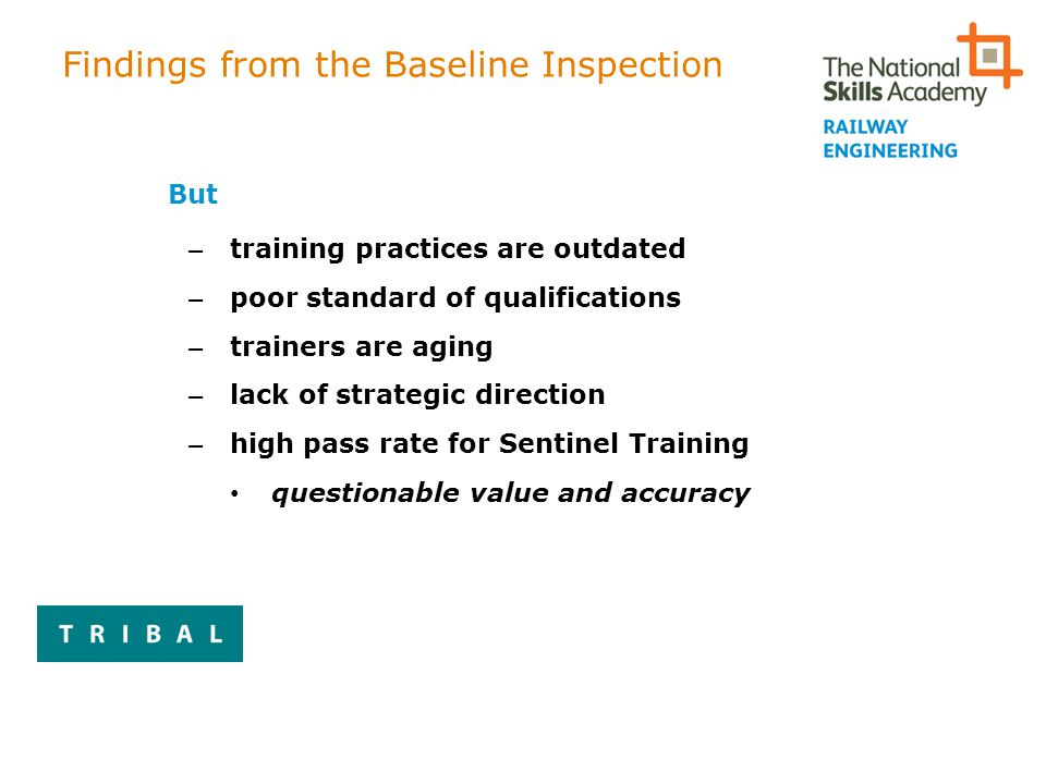 Findings from the Baseline Inspection