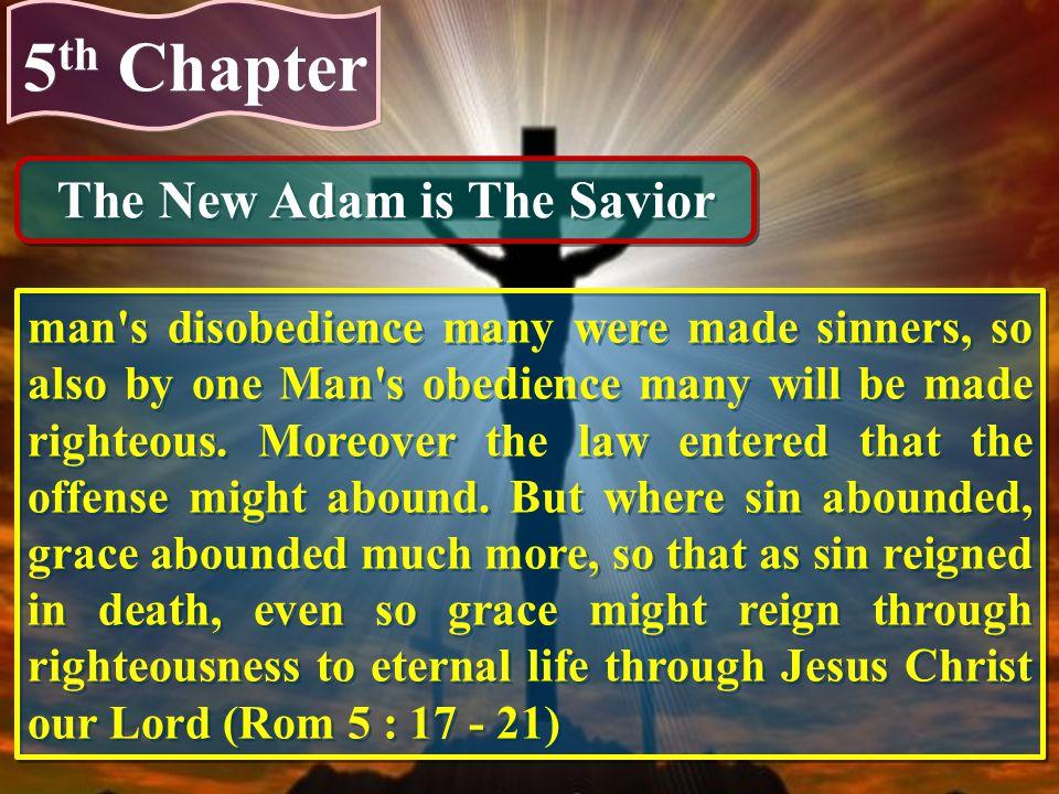 The New Adam is The Savior