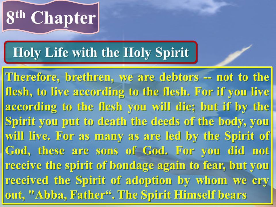 Holy Life with the Holy Spirit
